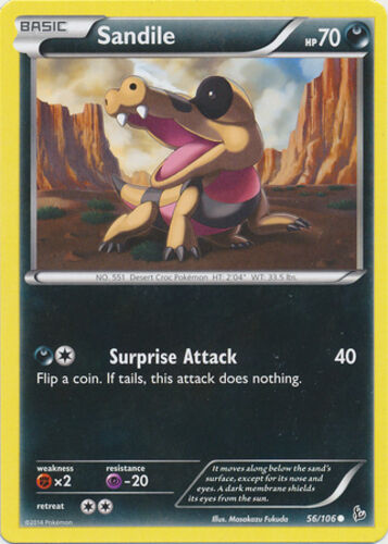 Common Reverse Holo Pokemon XY Flashfire M//NM English x4 Sandile 56//106