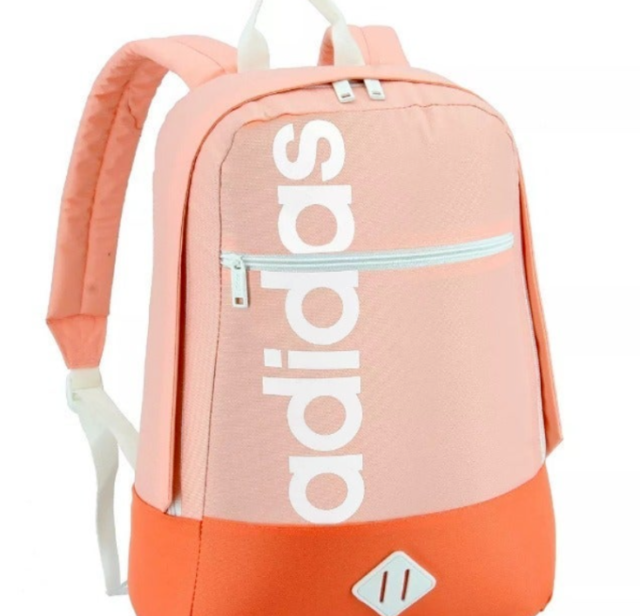 2 in 1 backpack School bag peach color