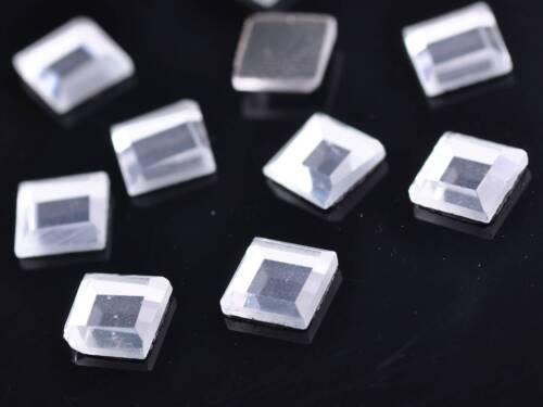 Al por mayor 4//6//8//10mm Cuadrado Hotfix Pedrería de cristal de reverso plano Diamante De Hierro