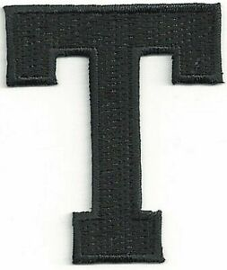 "1 7//8/"" Black Monogram Block letter X Embroidery Patch"