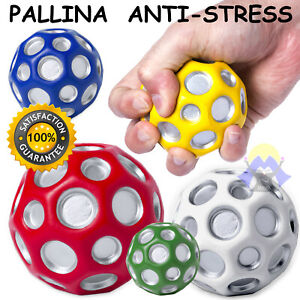 PALLINA antistress ANTI STRESS Palla RIMBALZANTE Morbida ADULTO gioco BAMBINI