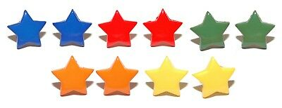 COLORFUL STAR STUD EARRINGS ~ 5 COLORS  U PICK