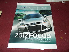 2012 FORD FOCUS INTRODUCTION FRONTLINE DEALER ONLY MAGAZINE BROCHURE RARE