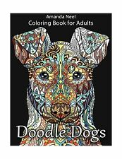 Doodle Dogs Coloring Book For Adults Free Shipping