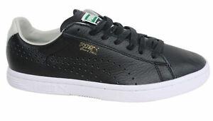Puma-Court-Star-casi-como-nuevo-Negro-Sintetico-De-Hombre-con-Cordones-Tenis-357883-10-P0