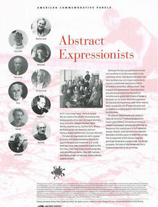 848-44c-Abstract-Expressionists-4444-USPS-Commemorative-Stamp-Panel