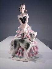 +# A001280_01 Goebel Archiv Dame Frau mit Windhund Barsoi Barzoi FF275 Plombe