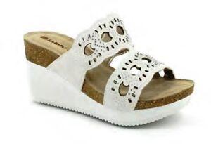 INBLU CIABATTE SCALZATI donna ART EN06 ZEPPA bianco slippers