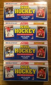 1990-91-Score-American-Hockey-Complete-Factory-Sealed-Set-Brodeur-RC-4-Set-Lot