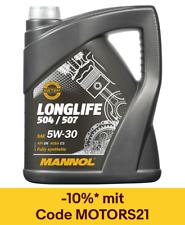 5L Mannol Longlife Öl O.E.M. 5W-30 Motoröl VW 504.00 507.00 BMW LL-04 MB 229.51