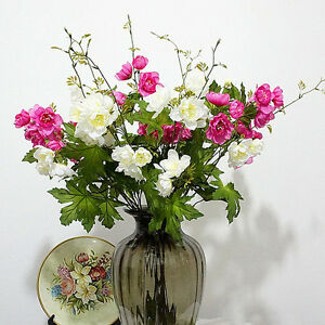 Image Is Loading 10 Heads Artificial Silk Lotus Flower Bouquet Wedding