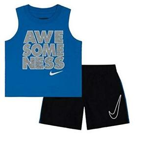 6a9bc6895 Nike Toddler Boys' Dri Fit Short Sleeve T-Shirt and Shorts 2 Piece ...