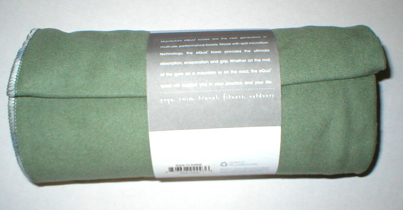 New Manduka Towel Fast Drying Equa Equa Equa Hot Yoga Mat Pilates Grün Sweat Activated NW 71e816