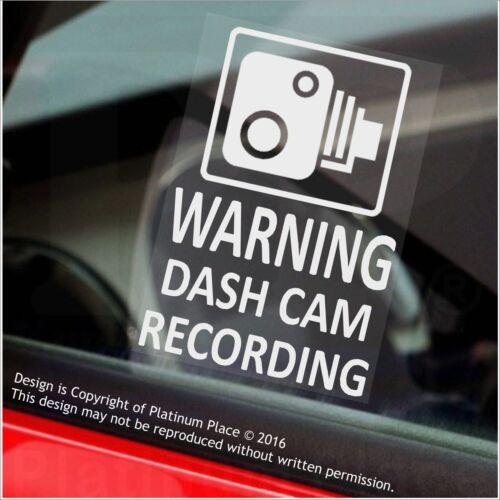 Mini Cab-60mm 4 X Pegatinas de Advertencia de grabación de leva de la rociada de advertencia-Cctv Sign-coche taxi