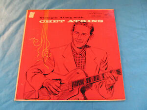 CHET-ATKINS-034-STRINGIN-ALONG-WITH-034-LPM-1236-ORANGE-COVER-Original-1956-Vinyl-LP