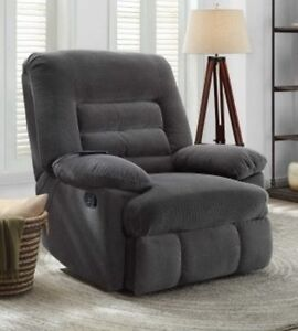 Image Is Loading Big Amp Tall Gray Massage Recliners Grey Armchair