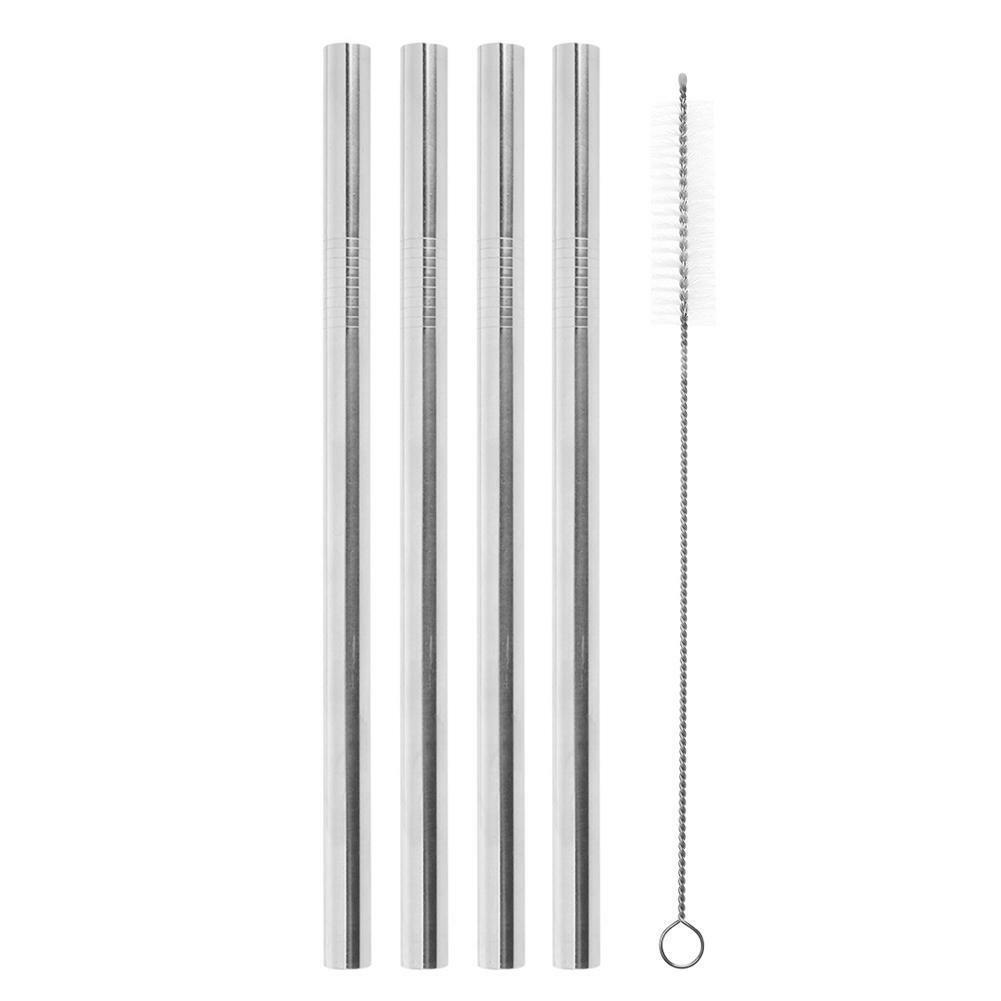 4pcs Straws 1pc Brush 18*12mm