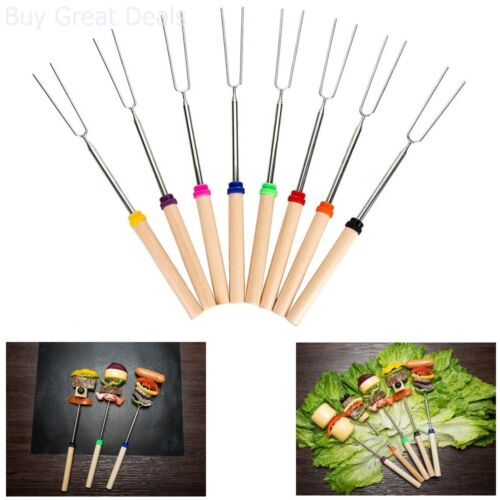 Roasting Sticks Extendable Marshmallow Hot Dog Forks 32in Roaster Sticks 8 Set