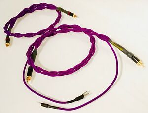 Custom Length Audiophile Turntable Phono RCA Cables w/Ground Wire ...