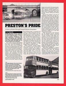 Buses Magazine Extract  Preston Borough Transport  Since Deregulation  1991 - Birmingham, United Kingdom - Buses Magazine Extract  Preston Borough Transport  Since Deregulation  1991 - Birmingham, United Kingdom