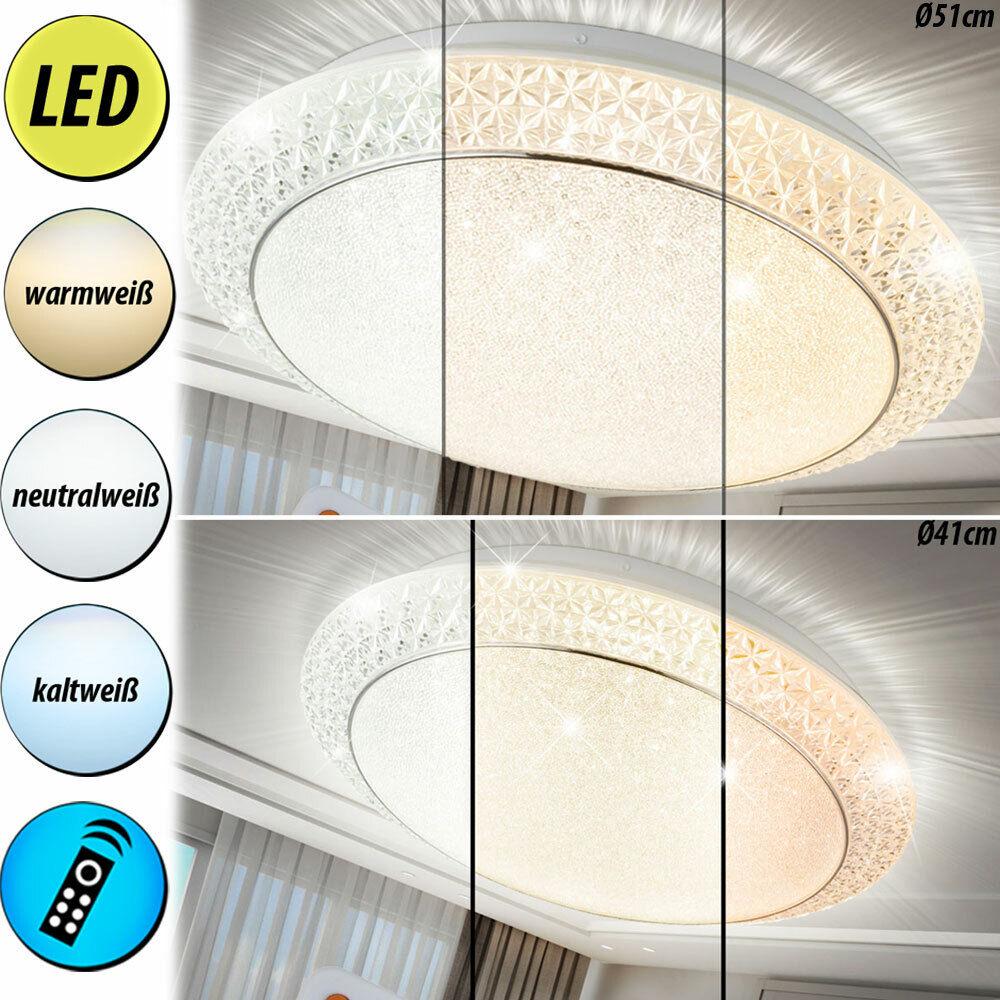 Luxus LED Decken Lampen Wohnraum Kristall Leuchten CCT Steuerung FERNBEDIENUNG