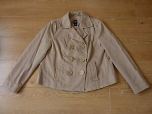 Gap-Ladies-Double-Breasted-Button-up-Beige-Jacket-Blazer-Size-LG