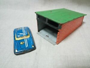 Children-039-s-toy-Soviet-union-game-sports-car-and-garage-tin-USSR