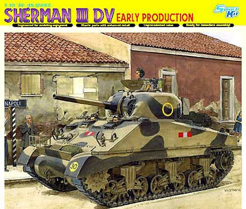 Dragon 1 3 5 6573 Solid Sherman II DV, Early Production