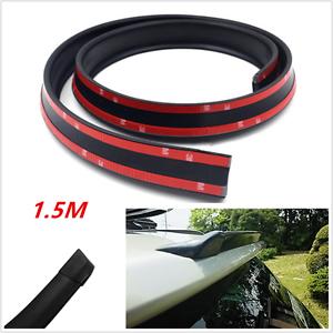 4.9ft//1.5M Universal Black Car Rear Roof Trunk Bonnet Spoiler Wing Lip Sticker