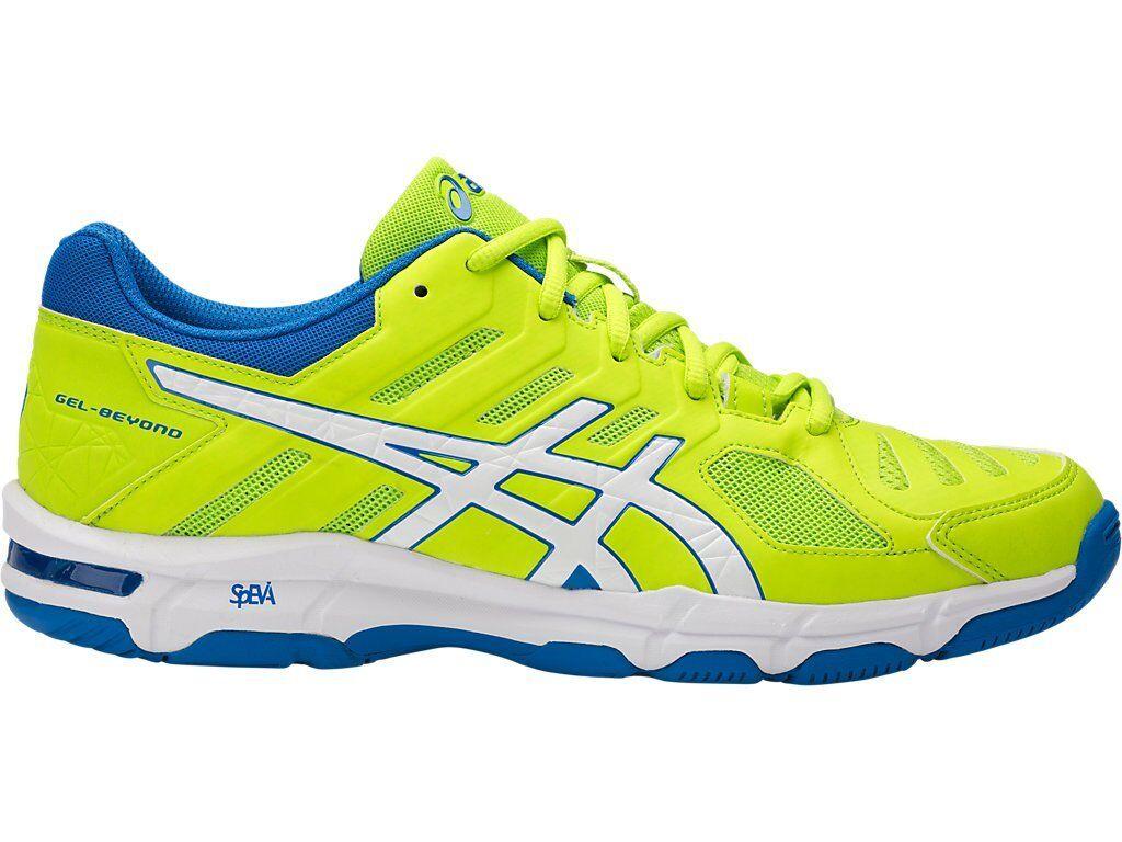 Asics GEL-BEYOND 5 Yellow White Blue Men Volleyball Shoes B601N-7701