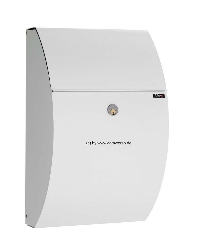 Briefkasten Allux 7000 in weiß mit Rukoschloß