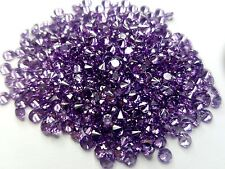 2mm Amethyst Cubic Zirconia Round Cut Loose Gemstone AAAAA lot of 100 stones