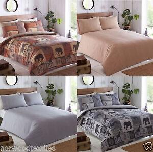 Kruger-Lino-safari-africano-Cubierta-Edredon-Reversible-juego-cubierta-del-edredon-ropa-de-cama