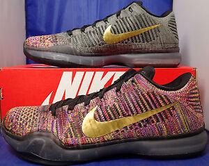 35a5e9ea3530 Nike Kobe X 10 Elite Low Flyknit Multicolor 2.0 QS iD SZ 10.5 RARE ...