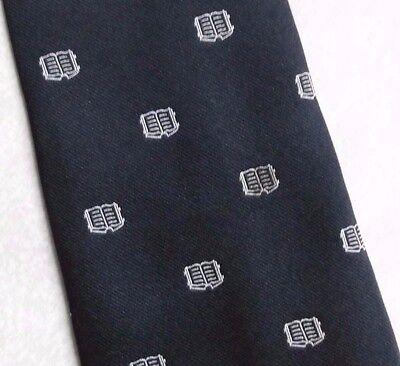 Luminosa Vintage Cravatta Da Uomo Cravatta Crested Club Associazione Società Libro-mostra Il Titolo Originale Rafforza Tendini E Ossa