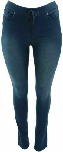 Martha Stewart Knit Denim Pull-On Jeans w//Drawstring-Reg A301080 Tall A342888