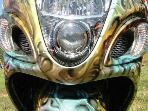 2012 12 HAYABUSA GSXR 1300 8 PC CHROME FAIRING /& NOSE SCREENS GRILLS VENTS MESH