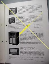 Graetz Sonderprospekt Radio, Fernseher zur Funkausstellung 1953 (15695)