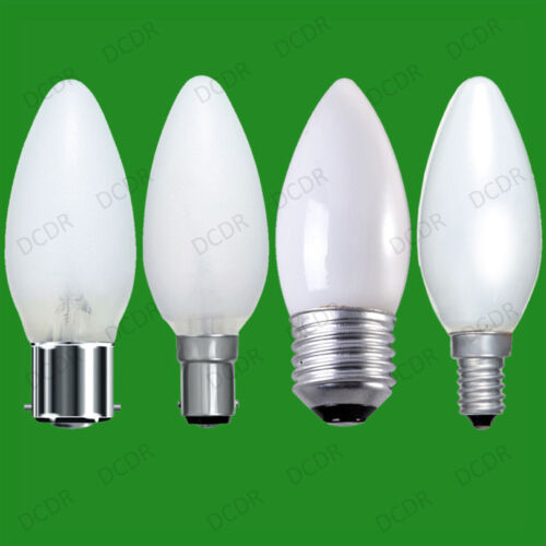 12x Opal Candle Dimmable Standard Light Bulbs 25W 40W 60W BC ES SBC SES Lamps