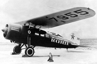 Lockheed Vega Luft Express Flugzeug 8x12 Silber Halogen Fotodruck Sammeln & Seltenes
