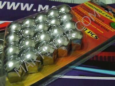 SET 20 COPRIBULLONI ACCIAIO CROMATI TESTA 17mm