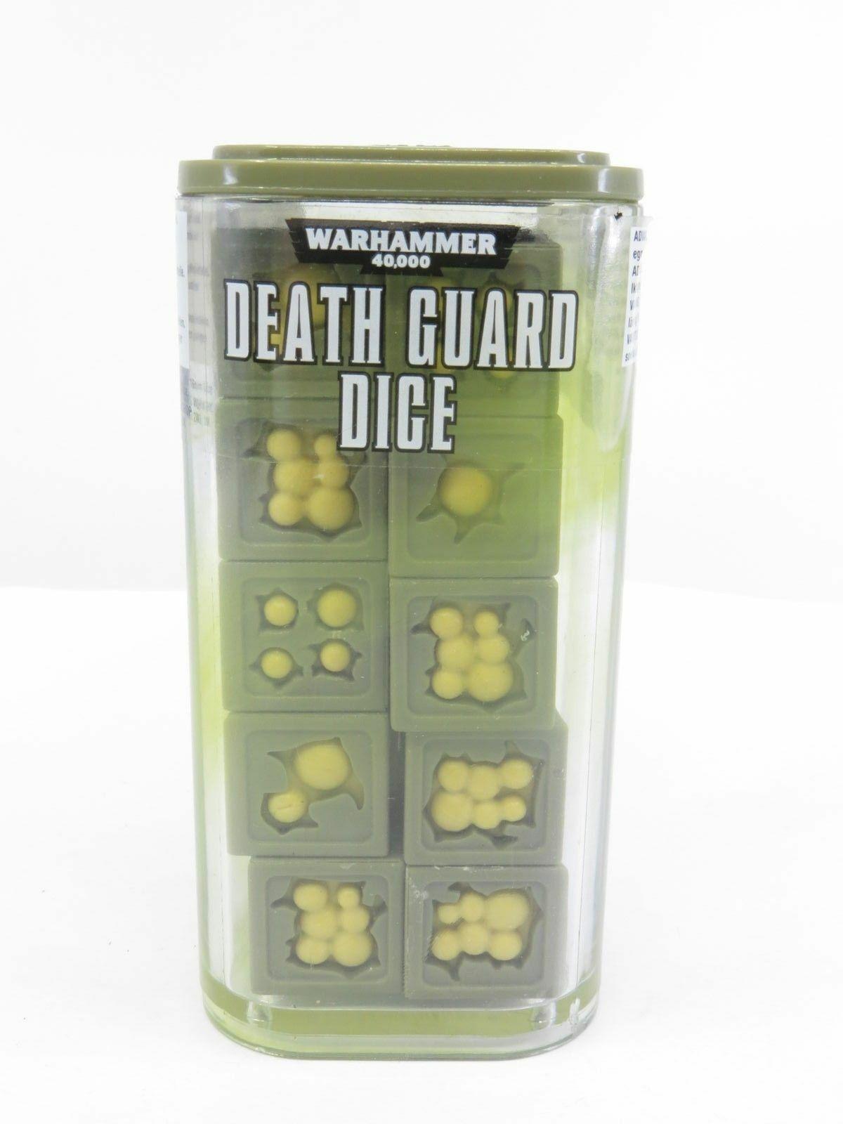 GAMES WORKSHOP WARHAMMER 40K - NURGLE DEATH GUARD DICE - OOP BNIB