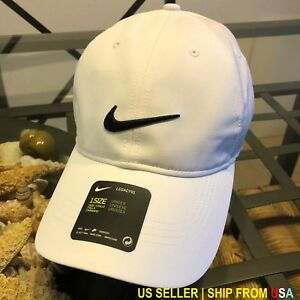 297270a2274 NIKE LEGACY 91 DRI-FIT WHITE 1 SIZE STRAPBACK BASEBALL CAP HAT NWT ...