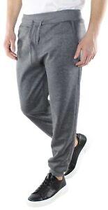 Pantalone-Tuta-Uomo-Cotone-Estivo-Primaverile-Grigio-Leggero-Pantatuta-Comodo