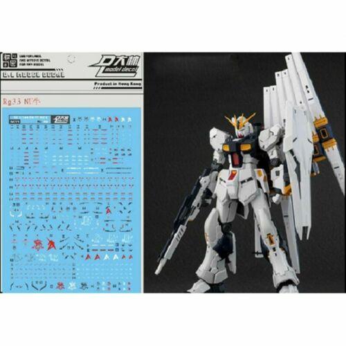 for RG 1//144 RX-93 Nu Gundam Gunpla D.L Dalin WaterSlide Decal Stickers RG33 YUE