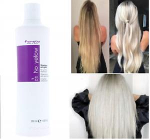 350ml Purple Shampoo Remove No Yellow Lightened Decolored Grey Silver Hair Women