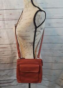 RELIC-Brown-CROSSBODY-Shoulder-Bag-Satchel-Purse-Handbag-Faux-Leather