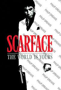Scarface Movie Poster Re Print Vintage Retro Cult Film Art 02