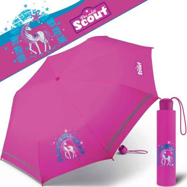 Scout Kinder Regenschirm Taschenschirm Schultaschenschirm Mit Reflektorstreifen