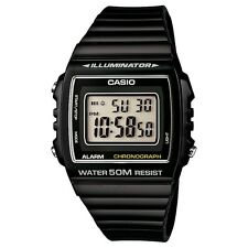 Casio Sports Unisex Classic Digital Watch With Alarm And Date, Black, W-215H-1AV